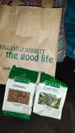 Holland and Barrett- great selection of seeds and nuts!